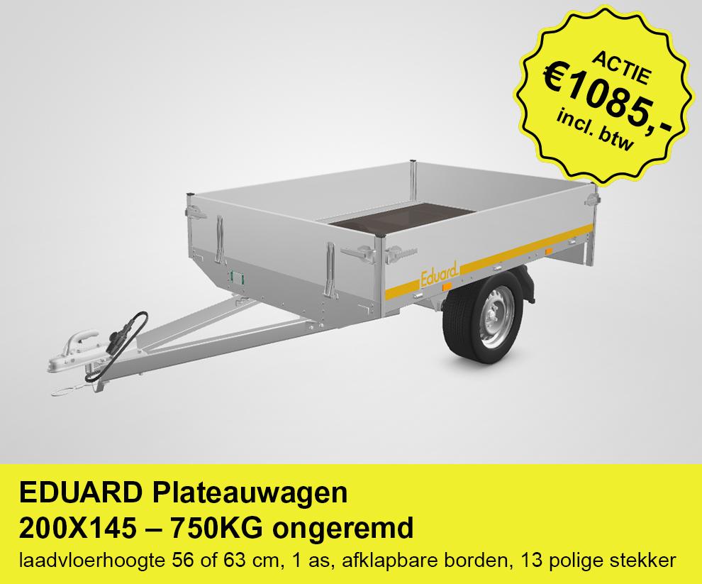 Actieplaatje-EDUARD-Plateauwagen-200X145-–-750KG-ongeremd