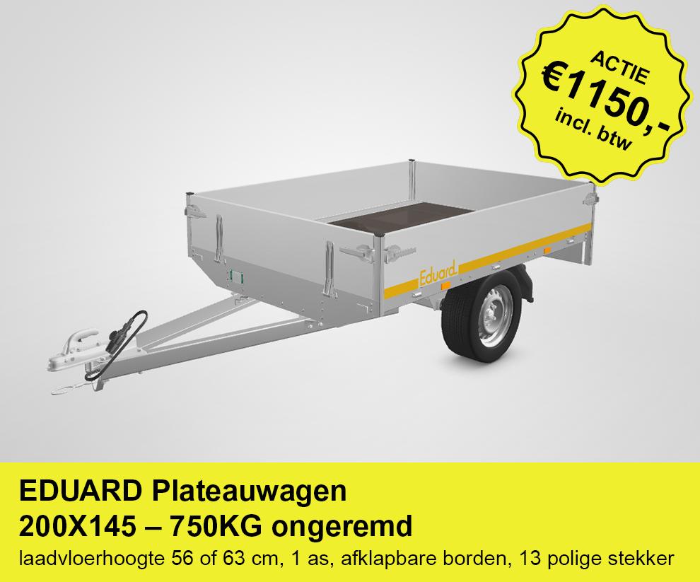 Actieplaatje-EDUARD-Plateauwagen-200X145-750KG-ongeremd
