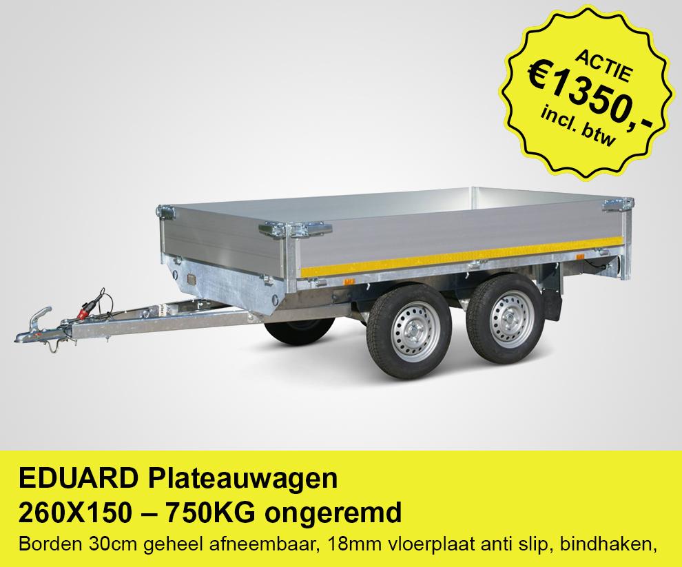 actie-plateauwagen